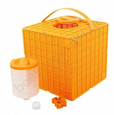 Multibox orange, Kunstschwarm-Box, Bienentransportbox, Schwarmfang