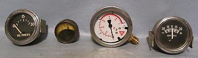 Lot of 4 Vintage Industrial Machine Age Decor Gauges Steampunk Altered Art used