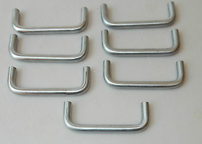 7 Vintage Brushed Nickel Silver Kitchen Door Cabinet Drawer Pulls Handles