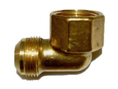 "HPC Brass 90 Degree Female Elbow Pipe Fitting, 3/4"" MIP to 15/16"" FIP"