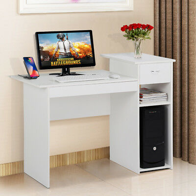 Computer Study Writing Desk Laptop Table with Drawer Small Spaces Home Office