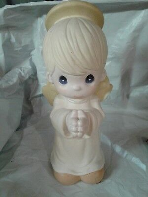 GARDEN PRECIOUS MOMENTS 14 INCH ANGEL  BOY SAM B 2700 no Box or tag