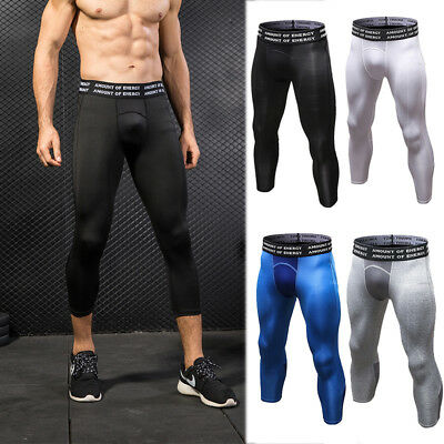 Men's Compression Legging Quick-dry Gym Running Athletic Bottoms Gym Base Layers