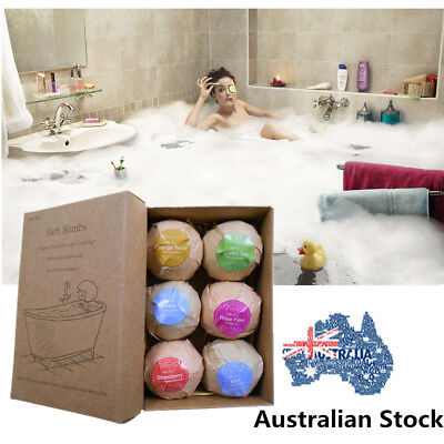 Aromatherapy Bubble Bath Bombs with Coconut Oil GIFT Bath 6PCS