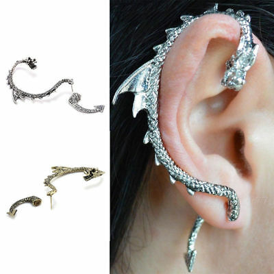USA 1pc Game of Thrones Dragon Snake Earrings Stud Ear Cuff Wrap Jewelry Magic