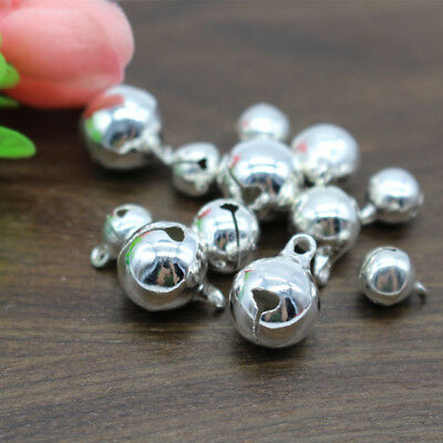 8 10 12mm Silver Plated Jingle Bell Small Bells Excellent quality Copper Metal