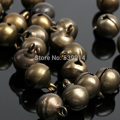 6mm 8mm 10mm Bronze Color Jingle Bell Small Bells Copper Loose Beads Fit