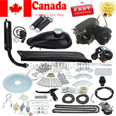 New Black 50CC Bike 2 Stroke Gas Engine Motor Kit for DIY Motorized Bicycle CAN