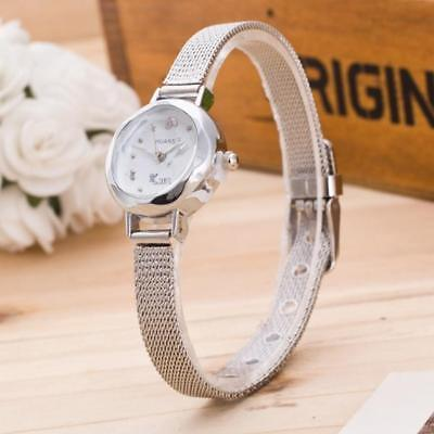 Hot Casual Ladies Women's Stainless Steel Mesh Band Analog Quartz Wrist Watch