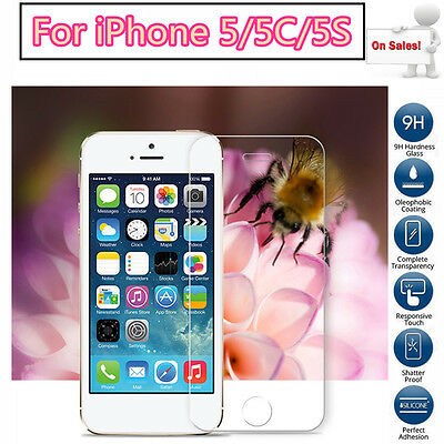 Lot 100x 200x 500x 1000x Tempered Glass Screen Protector iPhone 5 5C 5S HOT SALE