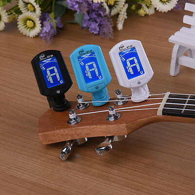 LCD Clip-on Electronic Digital Guitar Tuner for Chromatic Bass Violin Ukulele m