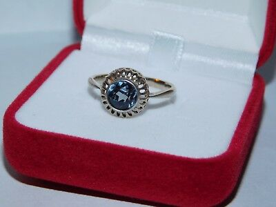 Vintage USSR Beautiful Ring with Alexandrite Silver 875 Soviet Antique Size 10
