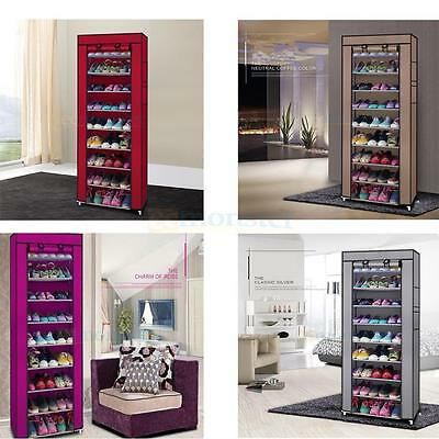 10Tier 30/50 Pair Space Saving Storage Organizer Free Standing Shoe Tower Rack Y