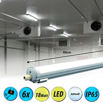 6x LED ceiling lights industrial buildings lighting Daylight tubs lamps cellar