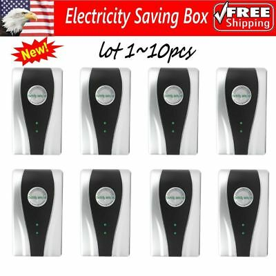 10 x Power Electricity Save Saving Energy Saver Box Save 30% Device US Plug OY2