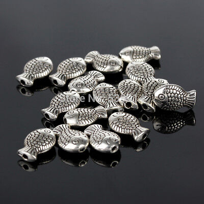7x10MM Fish Tibetan Antique Silver Spacer Beads DIY Beads Jewelry Making Chunky