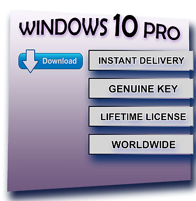 original windows 10 pro 32 64 bit genuine license coa oem product key code picclick uk. Black Bedroom Furniture Sets. Home Design Ideas