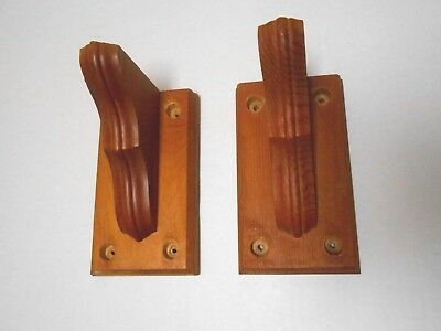 "Lot of 2 Small Traditional Wood Shelf Brackets Supports 3 1/4"" x 6"" x 3 3/4"""
