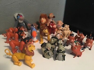 Huge Lot of Disney Lion King Figures and Small Plush