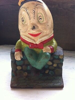 Reproduction?/ Maybe of Vintage Cast Iron Humpty Dumpty Bank