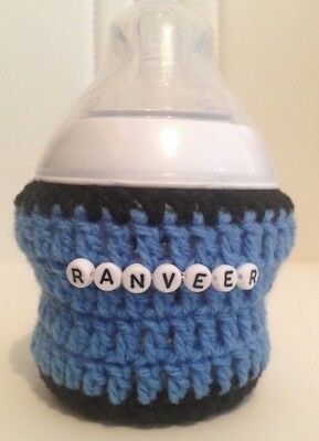PERSONALISED hand crochet baby bottle cover tomme tippe, avent Dr brown MAM Nuk