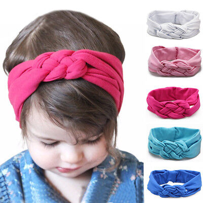 Baby Twist Headband Hair Band Ski Hat Earmuffs Winter Warm Girls