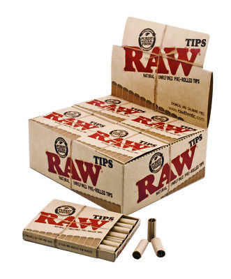 Full Box 20x Packs ( RAW Pre-Rolled Tips ) Natural Unrefined Chemical & Chlorine