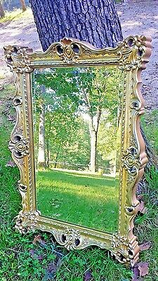 3ft Shabby Cottage Chic French Vintage Style Gold  Mirror Wall Decor ornate huge