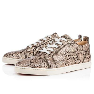 30c4a43a246 CHRISTIAN LOUBOUTIN GONDOLIERE ORLATO Glitter Snake Low Top Sneakers Shoes   845 -  519.99