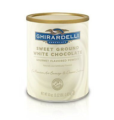 Ghirardelli Sweet Ground White Chocolate Flavor Powder 3.12 lbs.