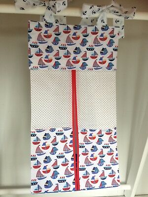 Nautical Nappy Stacker/Toy Storage for boy or girl. Ideal baby shower gift.
