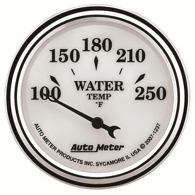 "Auto Meter 1237 Old Tyme White II 2-1/16"" Water Temperature Gauge, 100°-250°F"