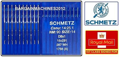 SCHMETZ DBX1SES 287WH CANU14:25EB1 NM:80//SIZE12 INDUSTRIAL SEWING MACHINE NEEDLE