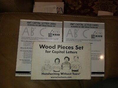 Handwriting Without Tears Wood Capitals Set, PLUS 2 sets of CAP Letter Cards,NEW