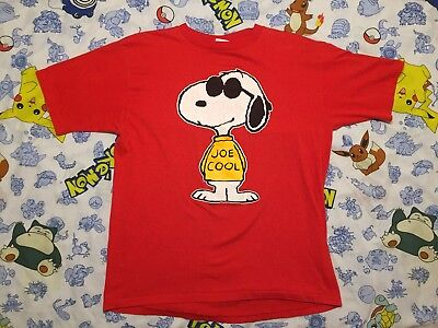 VTG 70s Snoopy Joe Cool 1971 PEANUT T-Shirt OFFICIALLY LICENSED Men's Size Large