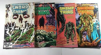 Saga of the SWAMP THING #35,36,45,46 (VF+) 4 ISSUE LOT--DC COMICS--ALAN MOORE