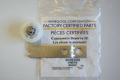 W10837240 Genuine OEM Whirlpool Dryer Idler Pulley Bracket in Factory Sealed Bag