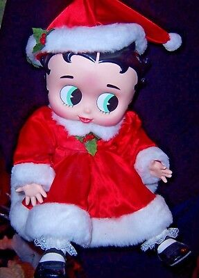 Betty Boop Doll Porcelain  Red Outfit As Mrs Claus  By Marie Osmond