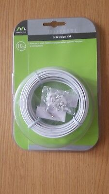Masterplug 10 Metre Telephone Extension Kit.