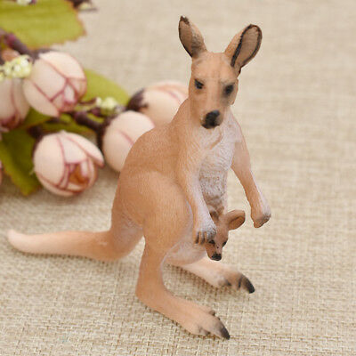 Australian Kangaroo Figurine Animal Model Ornament Kid Educational Toy Gift
