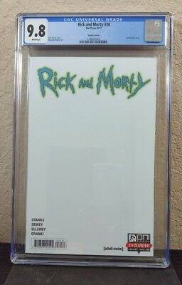 Rick and Morty #30 NYCC Blank Variant CGC 9.8