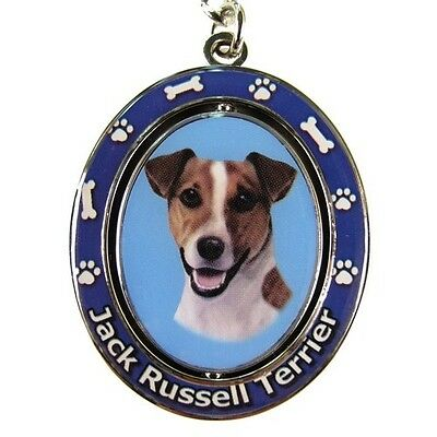 Jack Russell Terrier Dog Spinning Key Chain Fob
