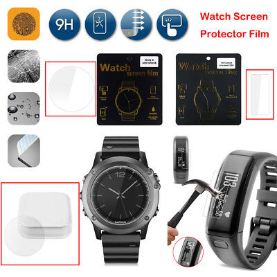 New Clear Watch Tempered Glass LCD Screen Protector Film Guard For Fitbit Garmin