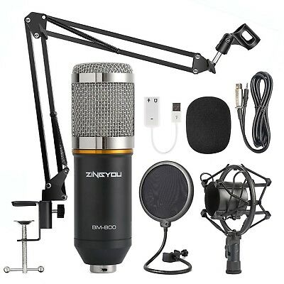 ZINGYOU Condenser Microphone Kit BM-800 Mic Set w/ Adjustable Mic Suspension Arm