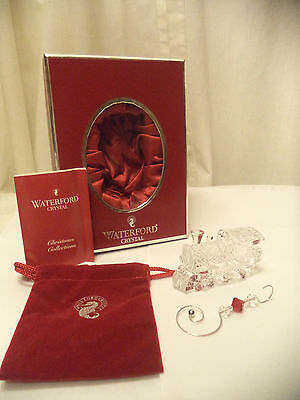 Waterford 2008 Train Engine w Enhancer Christmas Ornament NIB Made in Ireland