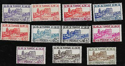 FRENCH TUNISIA ROMAN AMPHITHEATER AT EL DJEM MINT STAMPS FROM 1920-40s FRANCE