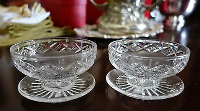 PAIR OF GORGEOUS Stuart Crystal service dish with UNDER PLATE CONDIMENTS