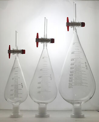 Borosilicate Glass Squibb Separating Funnel with PTFE (Teflon) Stopcock