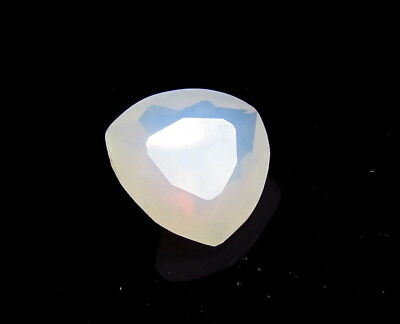 12x12mm WHITE OPAL faceted TRILLIANT CUT LOOSE GEMSTONE cut from natural rough
