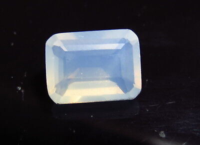 11.8mm WHITE OPAL faceted OCTAGON CUT LOOSE GEMSTONE cut from natural rough